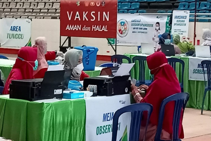 BPJAMSOSTEK gelar vaksinasi di GOR Kota Baru Jambi