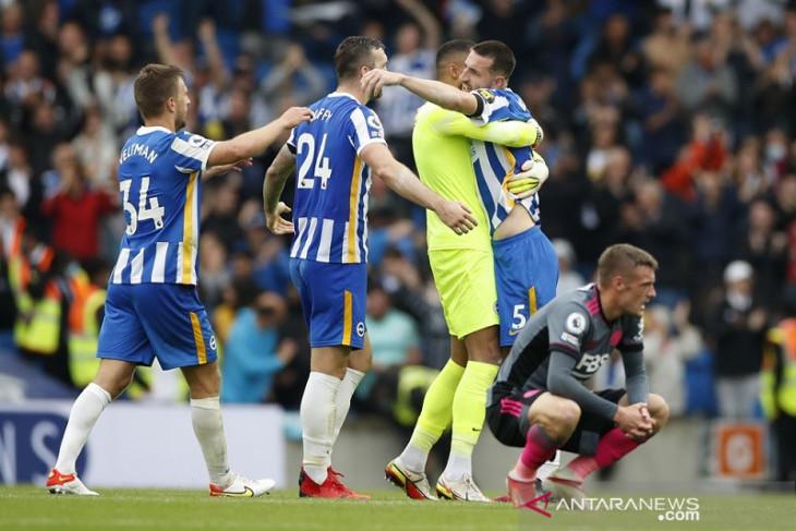 Brighton rusak penampilan ke-250 Vardy  untuk Leicester di Liga Premier