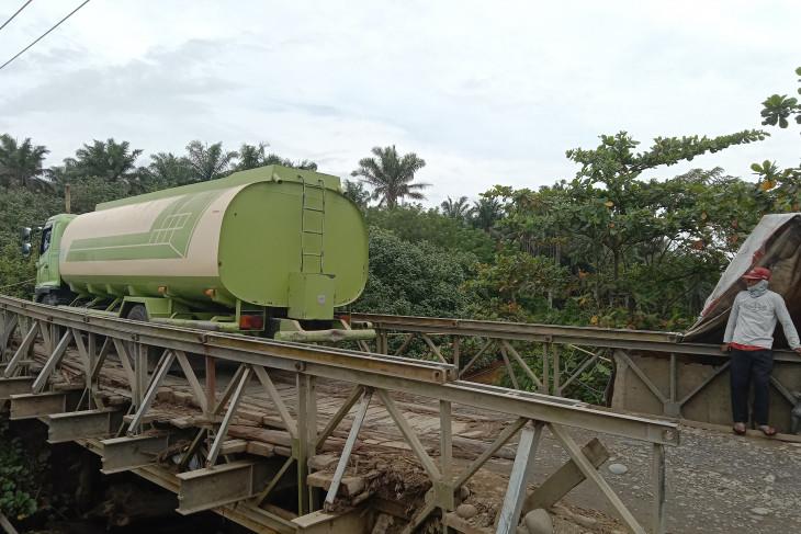 Jembatan di Mukomuko yang rusak sudah bisa dilalui