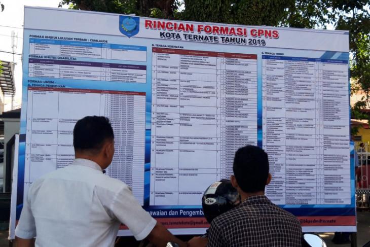 Sejumlah kabupatenkota di Malut sampaikan jadwalkan seleksi CPNS perebutkan peluang
