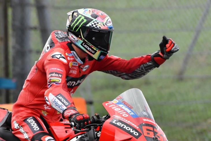 Bagnaia juarai GP San Marino demi pangkas jarak dari Quartararo