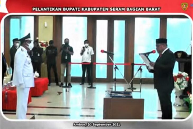 Gubernur Maluku minta Bupati Seram Bagian Barat percepat vaksinasi intensifkan kinerja