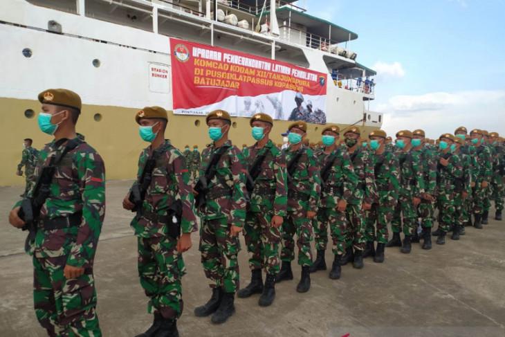 Kodam XII/Tpr berangkatkan sebanyak 499 prajurit komponen cadangan ke Batujajar