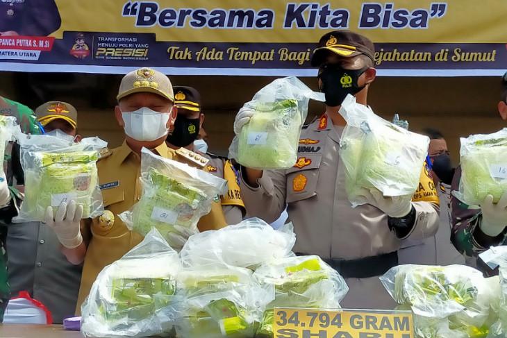 Akhirnya Polres Asahan berhasil ungkap pemilik 34.794 gram sabu