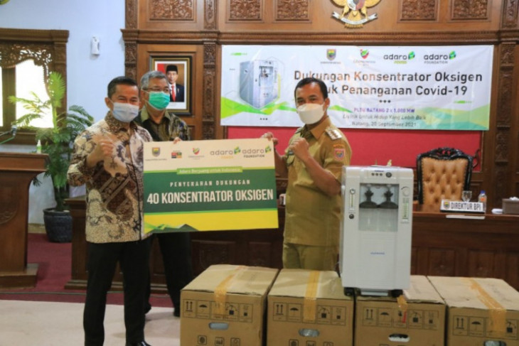 PT Adaro salurkan bantuan 40 konsentrator oksigen di Batang, Jawa Tengah