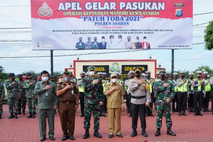 Bupati Asahan hadiri apel Ops Patuh Toba 2021