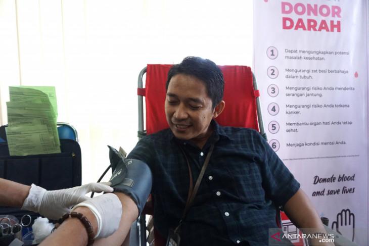 Peringati HSN, BPS Gorontalo gelar aksi donor darah