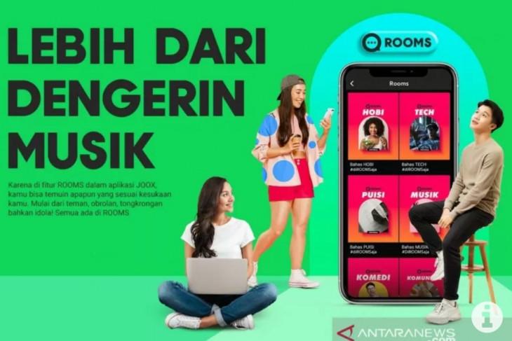 Menjajal JOOX ROOMS, aplikasi ngobrol virtual diiringi musik