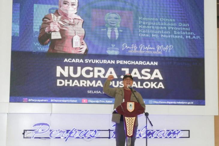 Kalsel mendapatkan penghargaan tertinggi indeks pembangunan literasi nasional