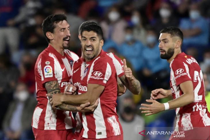 Gol Luis Suarez bawa Atletico kalahkan Getafe
