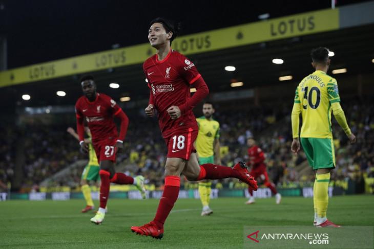 Takumi  Minamino, Origi antar Liverpool lewati Norwich di Piala Liga