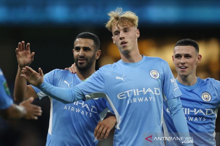 Manchester City melenggang di Piala Liga usai lumat tim strata ketiga Wycombe Wanderers 6-1