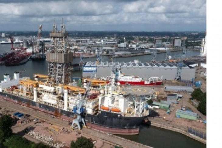 'Hidden Gem' arrives in Rotterdam to be transformed into nodule collection vessel for The Metals Company