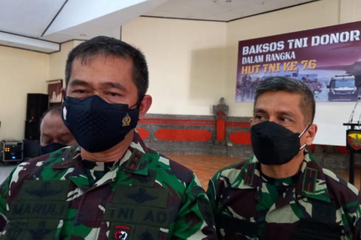 HUT ke-76 TNI, Kodam Udayana gelar donor darah serentak