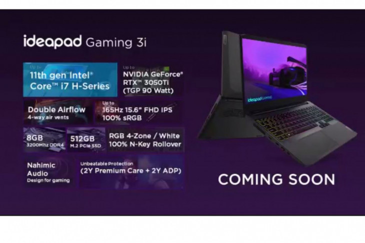 Lenovo perkenalkan IdeaPad Gaming 3i dengan tenaga prosesor Intel Gen-11