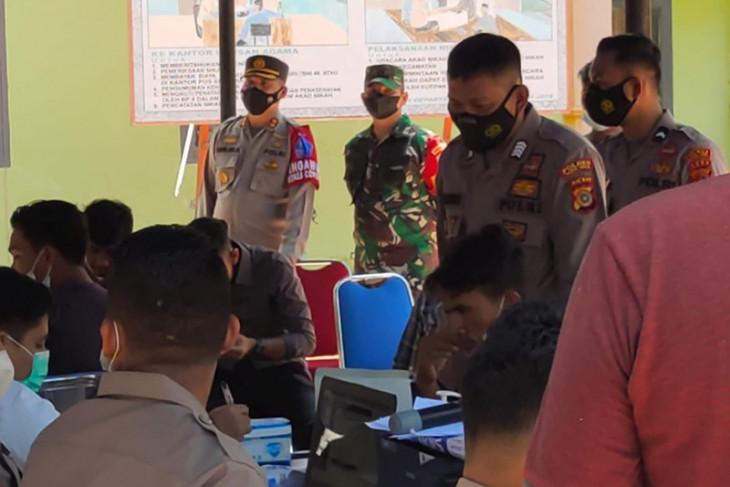 TNI dan Polri terus gencarkan vaksinasi di Aceh Jaya