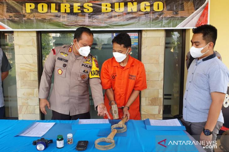 Polres Bungo menangkap pelaku penambang emas tanpa izin