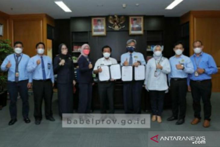 Pemprov Babel- DJKN tandatangani MoU pengelolaan barang milik daerah dan penagihan piutang