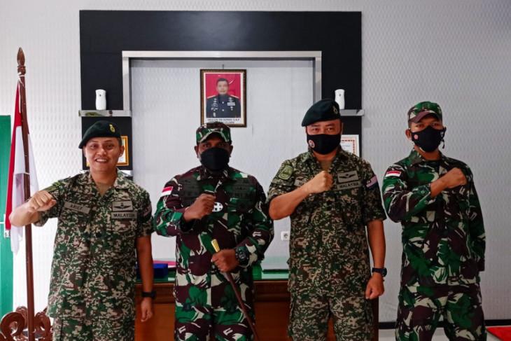 Bahas perbatasan Tentara Diraja Malaysia berkunjung ke Kodim Putussibau