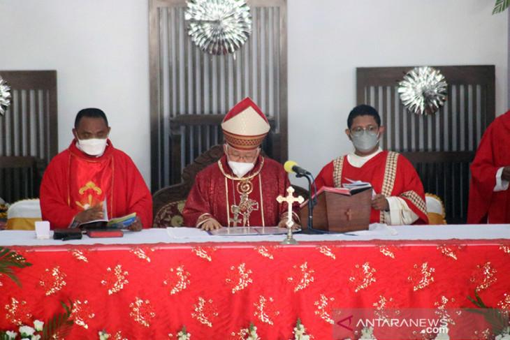 Uskup Agung Merauke umat Katolik tidak mau divaksin bisa berdosa