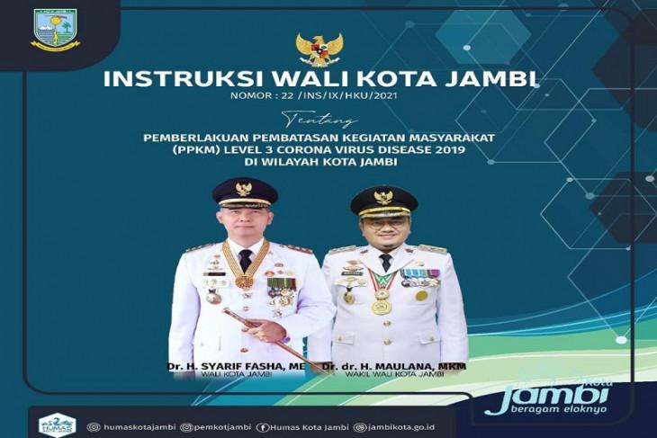 Wali Kota Jambi keluarkan instruksi PPKM level 3