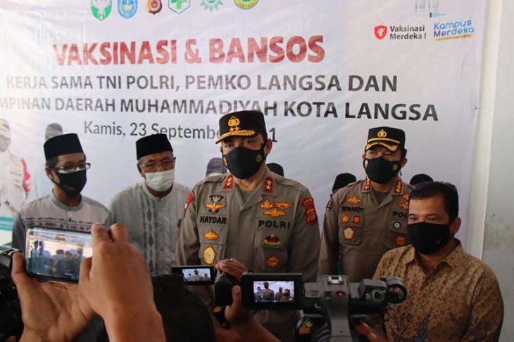 Kapolda Aceh ajak masyarakat Langsa sukseskan vaksinasi