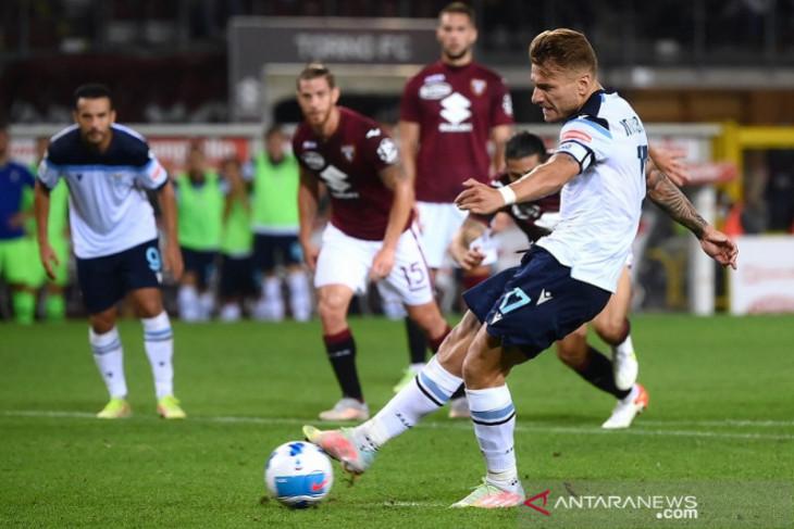 Penalti larut Immobile hindarkan Lazio dari kekalahan di Torino