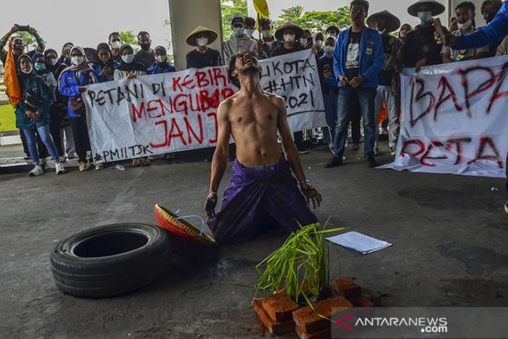 Aksi hari Tani Nasional di Tasikmalaya
