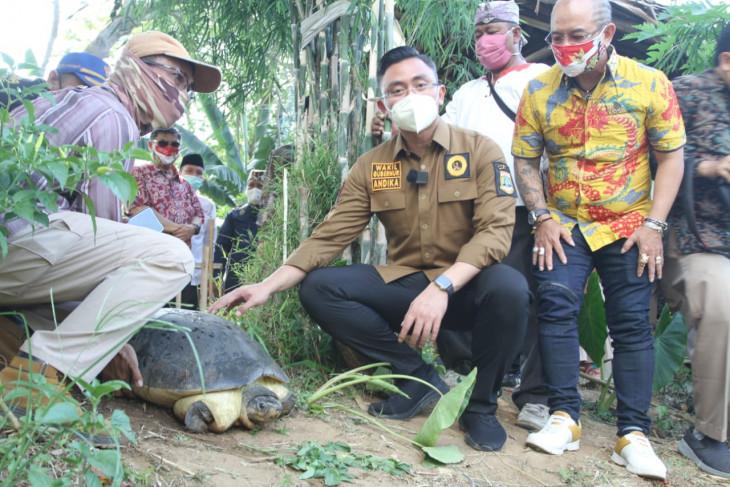 Hari Sungai Sedunia, Wagub Andika Hazrumy melepasliarkan kura-kura ke Cisadane