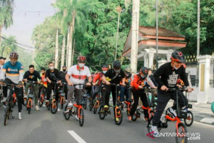 SOBAT MOLEN gowes gunakan sepeda PGK, produk lokal ikon Pangkalpinang
