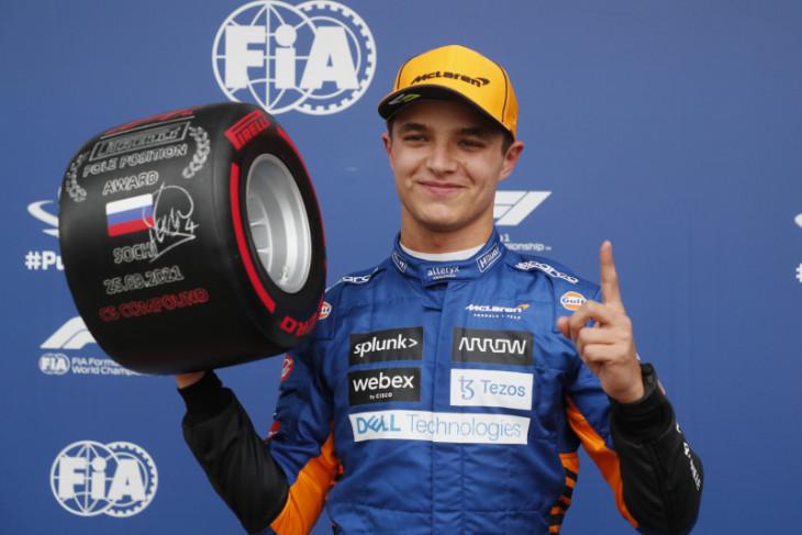 Kualifikasi GP Rusia, Norris klaim pole position perdana