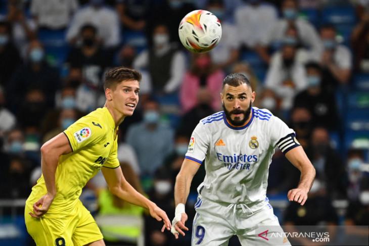 Rentetan kemenangan Real Madrid berakhir usai diimbangi Villarreal