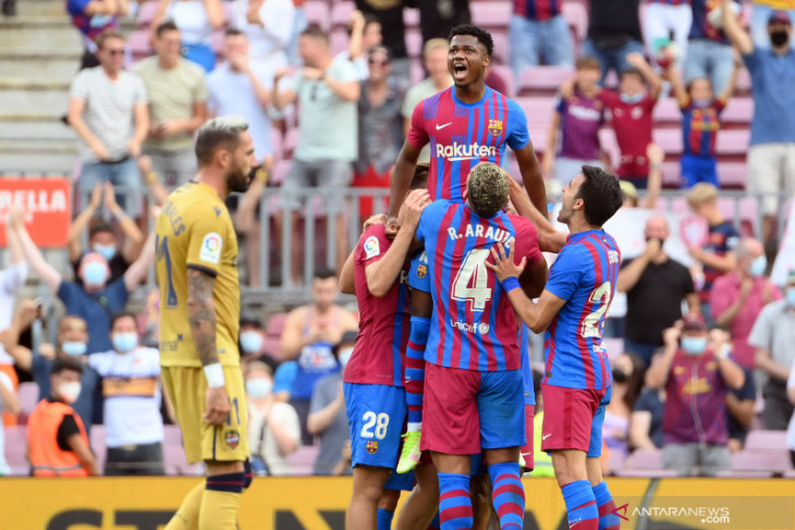 Liga Spanyol, Ansu Fati cetak gol saat Barcelona kalahkan Levante 3-0