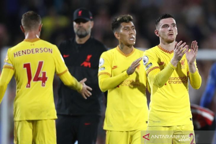Klasemen Liga Inggris: Tidak terkalahkan Liverpool duduki puncak