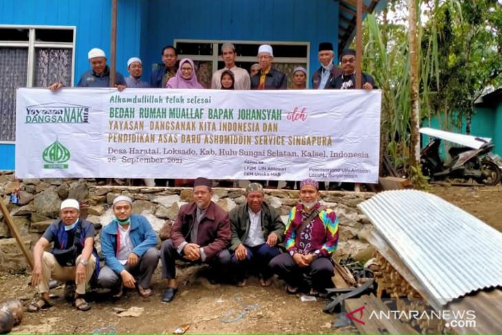 Yayasan Dangsanak resmikan bedah rumah mualaf di Haratai Loksado