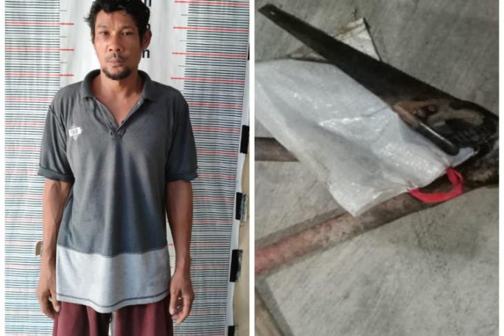 Polsek Pangkalan Brandan amankan Acong karena mencuri kabel Pertamina
