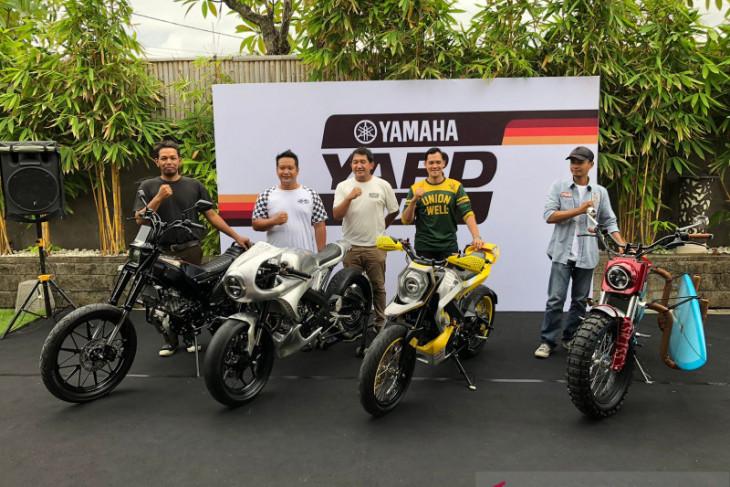 Empat 'Builder' sepeda motor custom di Bali selesaikan modifikasi XSR 155
