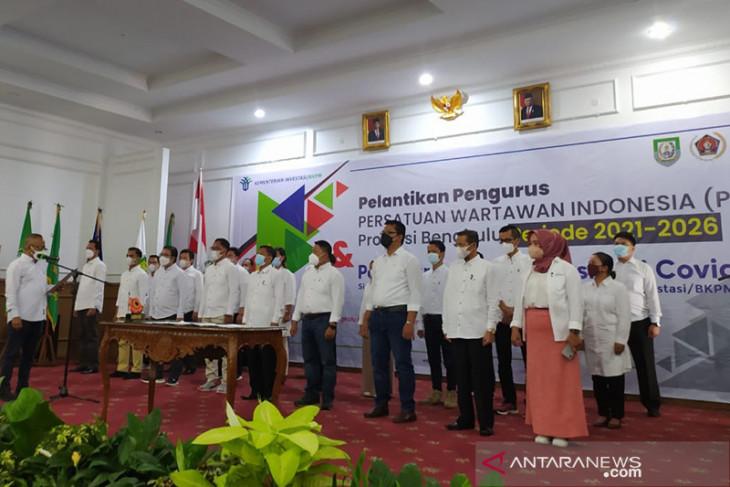 Ketua PWI lantik pengurus cabang Bengkulu periode 2021-2026