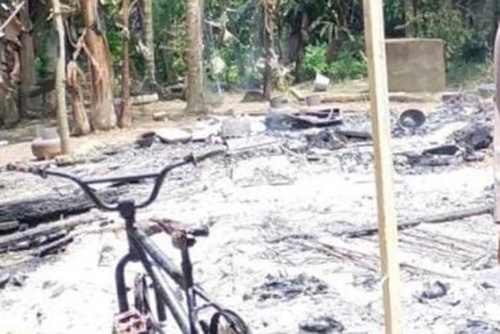 Pria di Aceh Utara bakar rumah sendiri