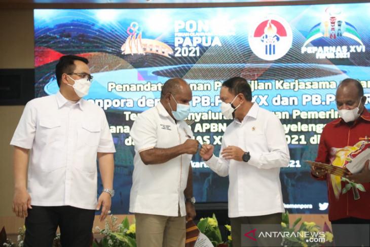 Kemenpora salurkan dana tambahan Rp831 miliar PON dan Peparnas