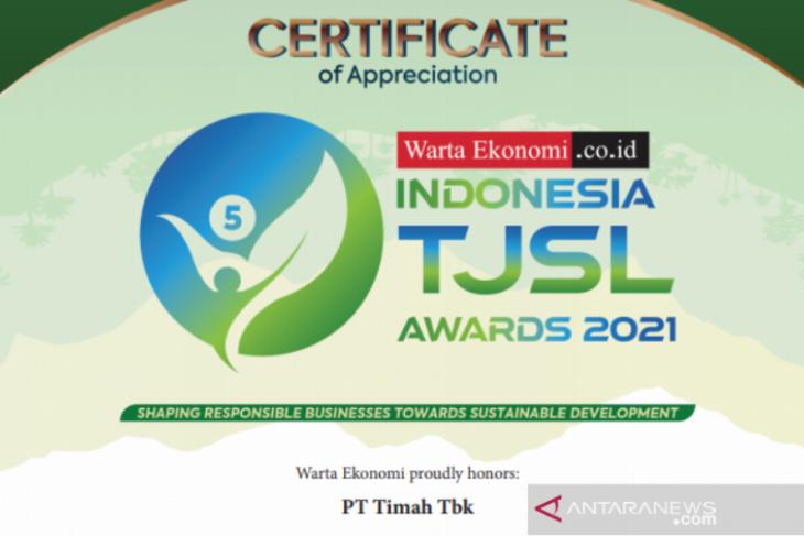 PT Timah raih penghargaan Best TJSL Award 2021