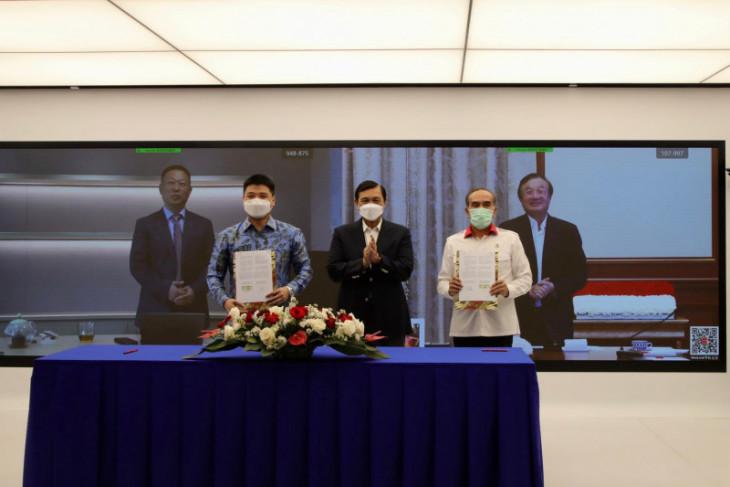 Indonesia jalin kerja sama teknologi dengan perusahaan China, Huawei