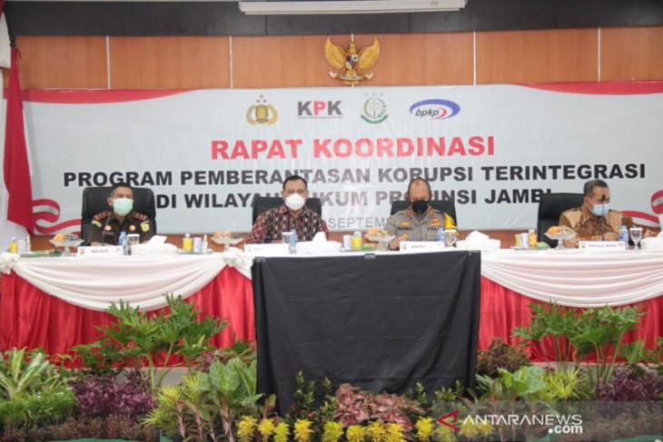 KPK menggelar rakor pemberantasan korupsi bersama Polda dan Kejati Jambi