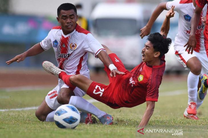Tim sepak bola putra Sulawesi Utara kalahkan Aceh 2-1 di PON Papua