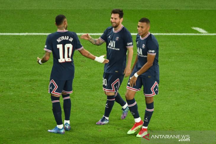 PSG bungkam Manchester City 2-0, Messi cetak gol perdana