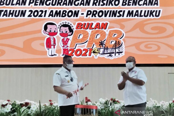 Gubernur Maluku luncurkan bulan pengurangan risiko bencana 2021 jadilah tuan rumah yang sukses