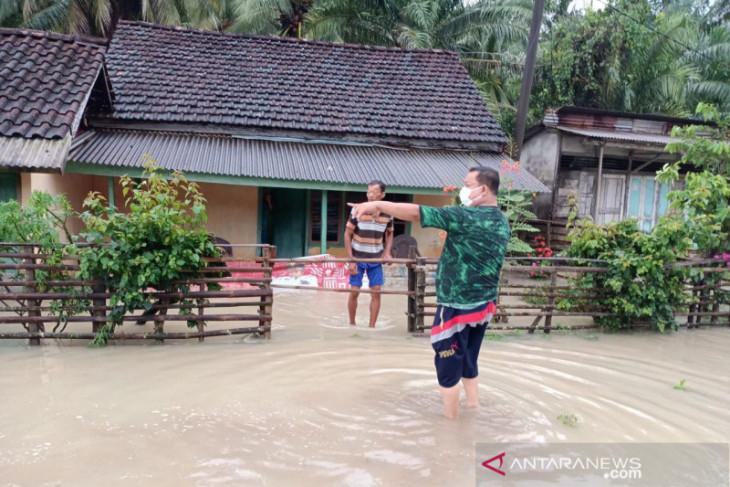 Hujan deras, 25 desa di Kabupaten Kaur Bengkulu terendam banjir