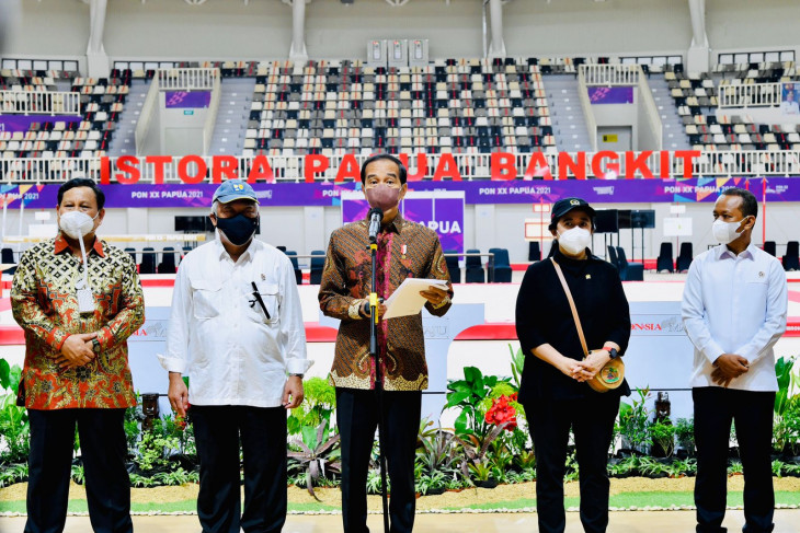 President Jokowi inaugurates seven venues for PON in Papua