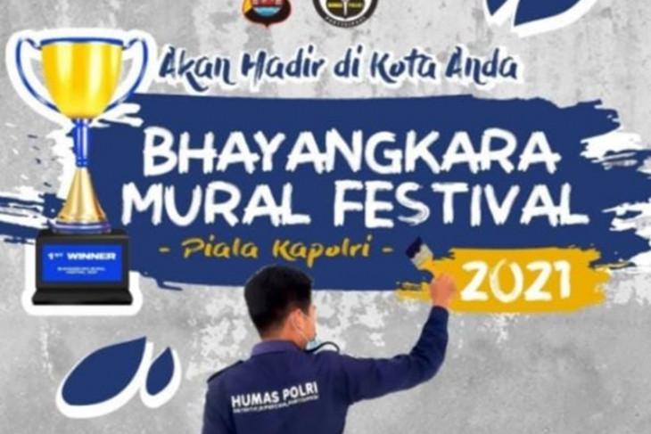 Divisi Humas Mabes Polri menyelenggarakan Bhayangkara Mural Festival 2021
