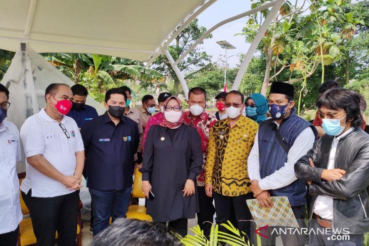Menteri BUMN  Erick Thohir resmikan desa wisata di Bogor
